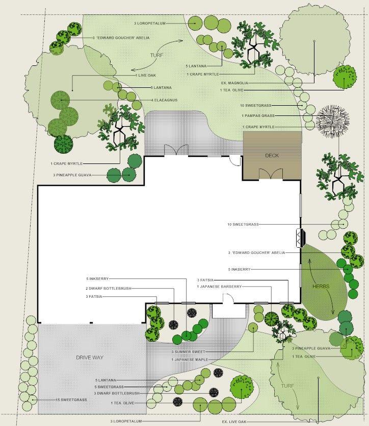 Residential Landscape With Driveway Landscape Design Software
