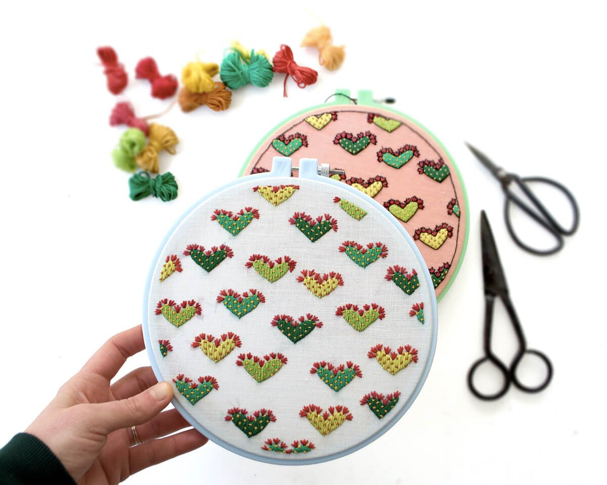 Cactus Love Embroidery (Download the Pattern)