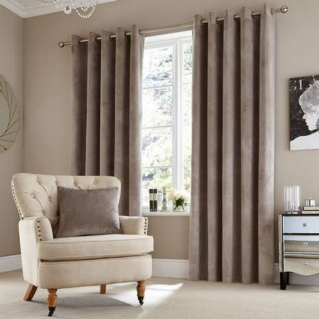 Crafted In A Dove Grey Tone These Ready Made Curtains Feature An Eyelet Header And Are Available In A Range Of Sizes Bedroom Colors Curtains Curtains Dunelm