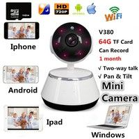 V380 HD 720P Mini IP Camera Wifi Camera Wireless P2P