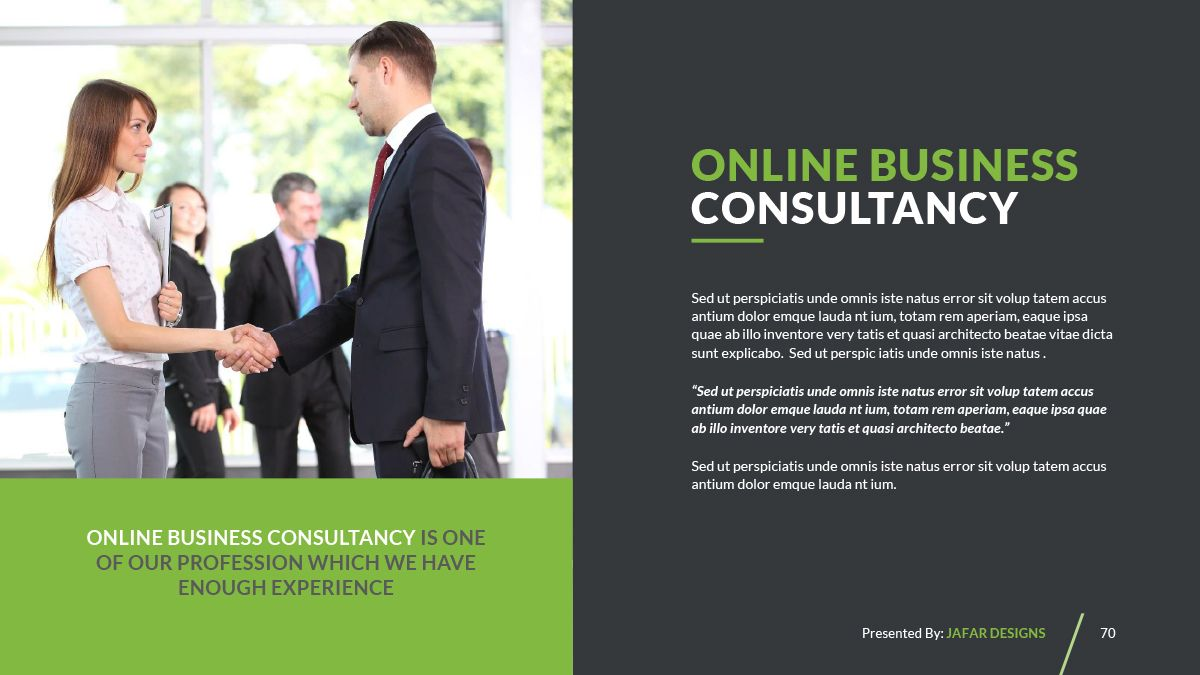 Company Profile Powerpoint Template Ad Profile Sponsored