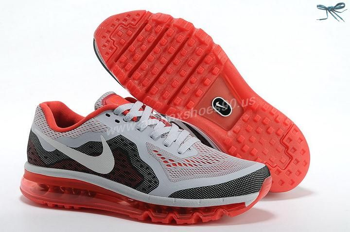 Mesh Grey Black Red Kids Shoes Nike Air Max 2014 Kids
