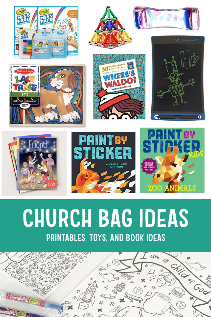 Quiet Activites ​for Kids during Sacrament Meeting - Kendra John Designs #churchitems