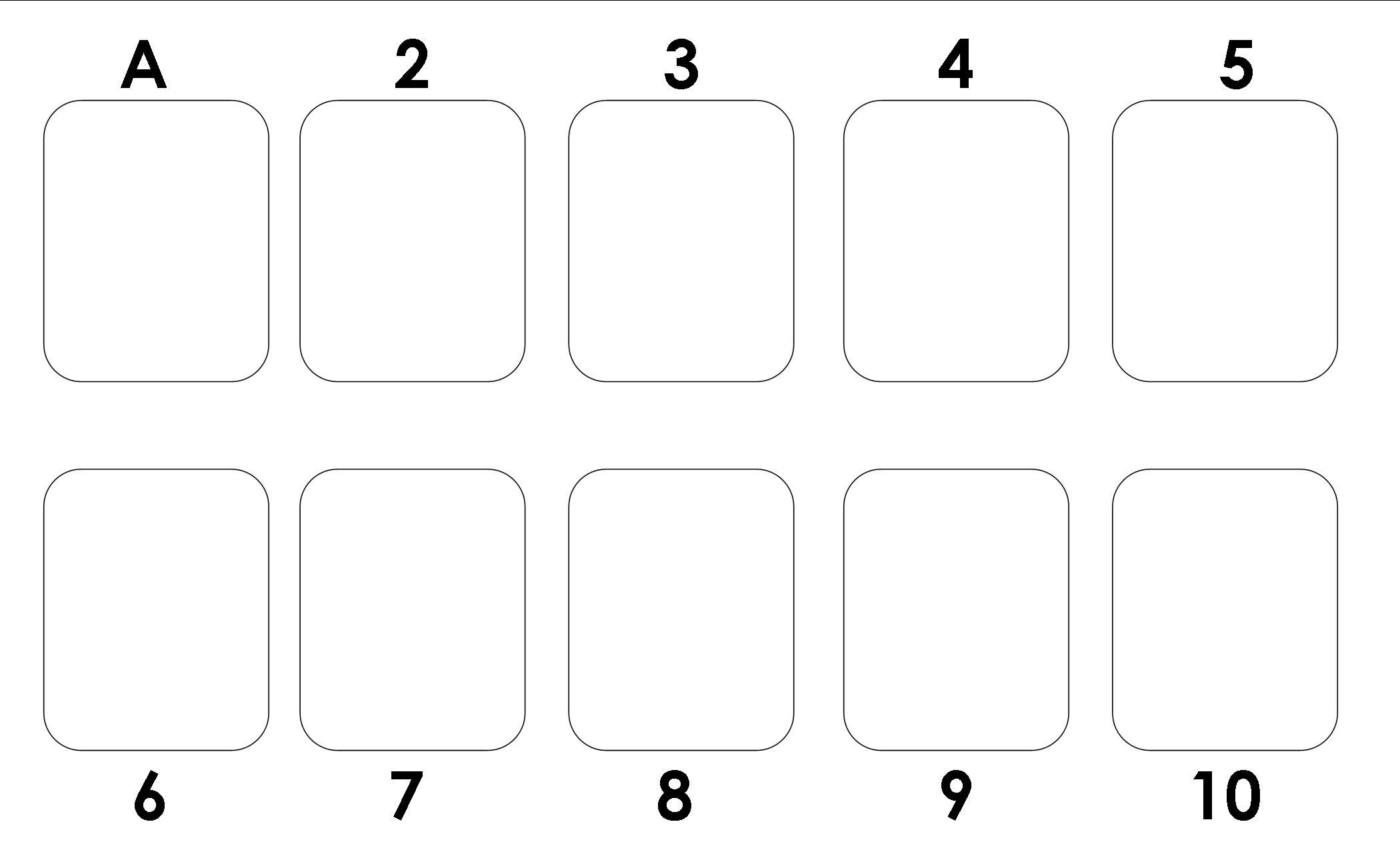 Template to use for the card game- Garbage or Trash