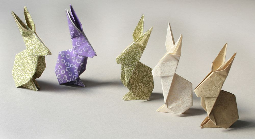 tutoriel lapin en origami. Black Bedroom Furniture Sets. Home Design Ideas