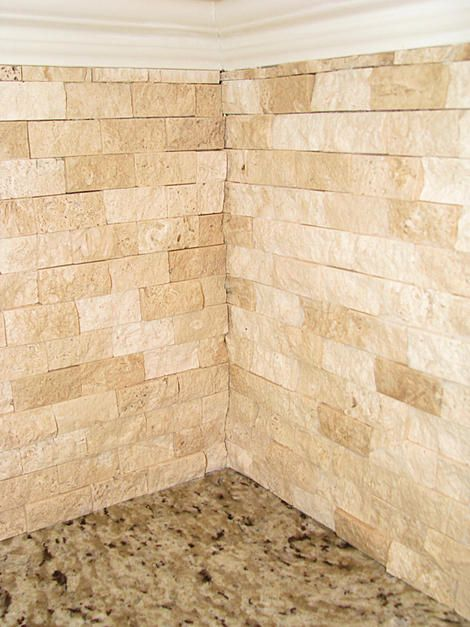 1x2 Split Face Travertine Corners Ceramic Tile Advice Forums John Bridge