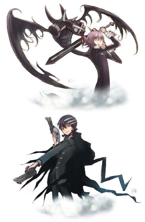 Crona w/ Ragnarok and Kid w/ the Thompson Twins | Soul Eater ...