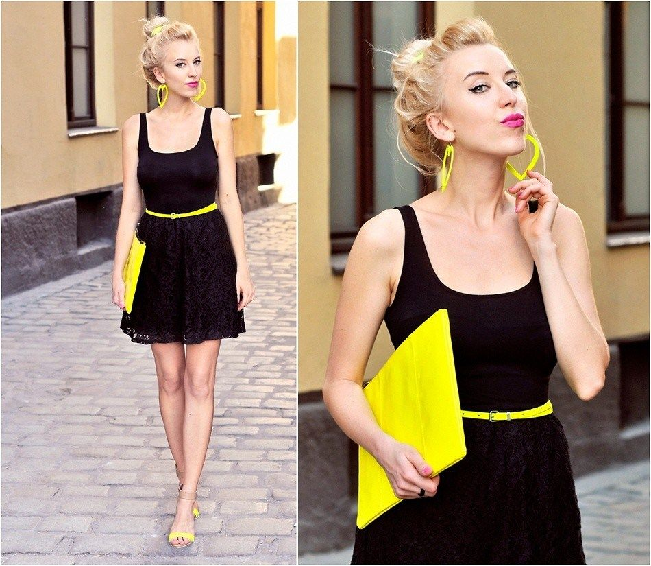 Neon Yellow Accessories Go Well With Black