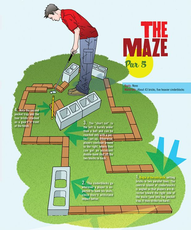 Build A Miniature Golf Course In Your Backyard Miniature Golf Course Miniature Golf Mini Golf Course