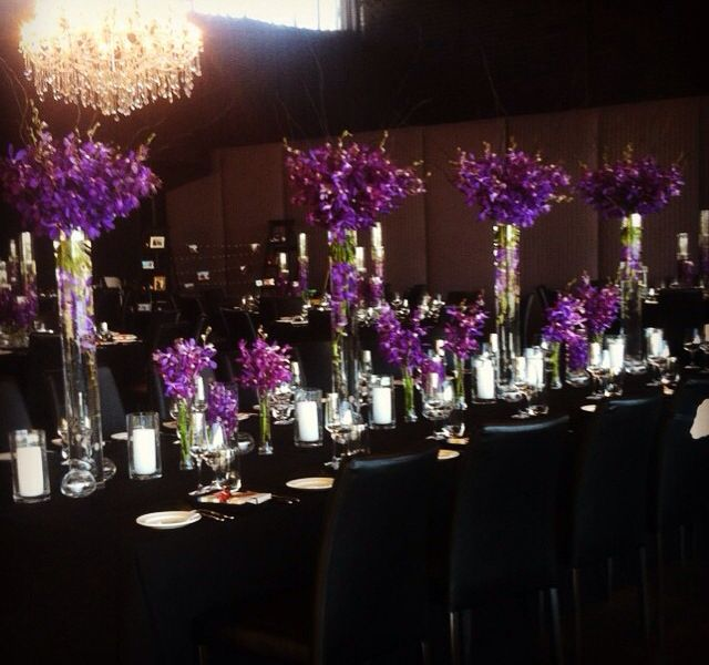 Purple Vanda Orchid Centrepiece Bouquet Melbourne Centrepiece Bouquet Wedding Flowers Delivery Wedding Bouquets