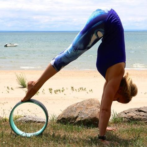 8 brilliant ways to use a yoga wheel to boost your