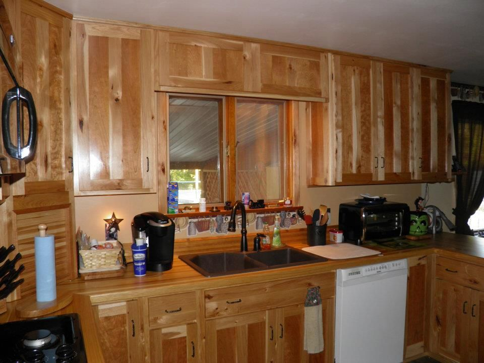 Solid Rustic Hickory and Solid Cherry Mission Style ...