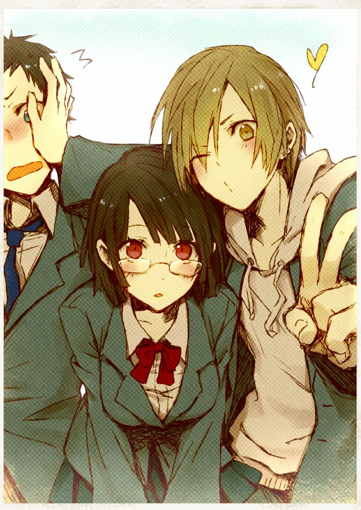 Anri Sonohara & Masaomi Kida & Mikado Ryugamine マンガアニメ