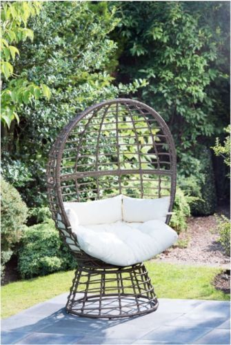 Wondrous Swivel Chair Thick Cushions Indoor Garden Rattan Large Egg Caraccident5 Cool Chair Designs And Ideas Caraccident5Info