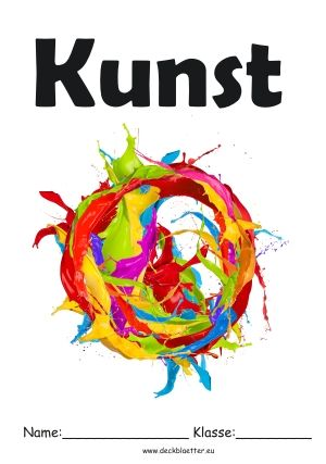 Deckblatt Kunst Schulideen Pinterest Deckblatt Schule
