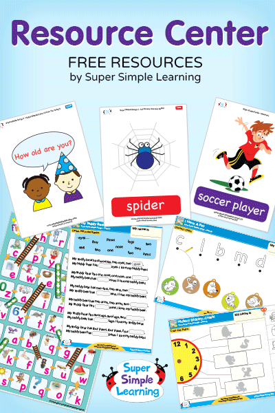 Free Flashcards, Worksheets, Coloring Pages, Games, and Crafts from Super Simple Learning. #EFL #preschool