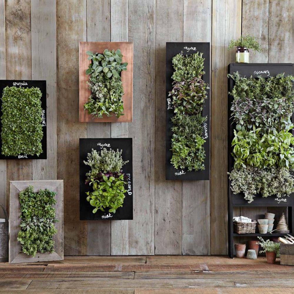 rectangular chalkboard wall planter indoor herb garden on indoor herb garden diy wall vertical planter id=27045