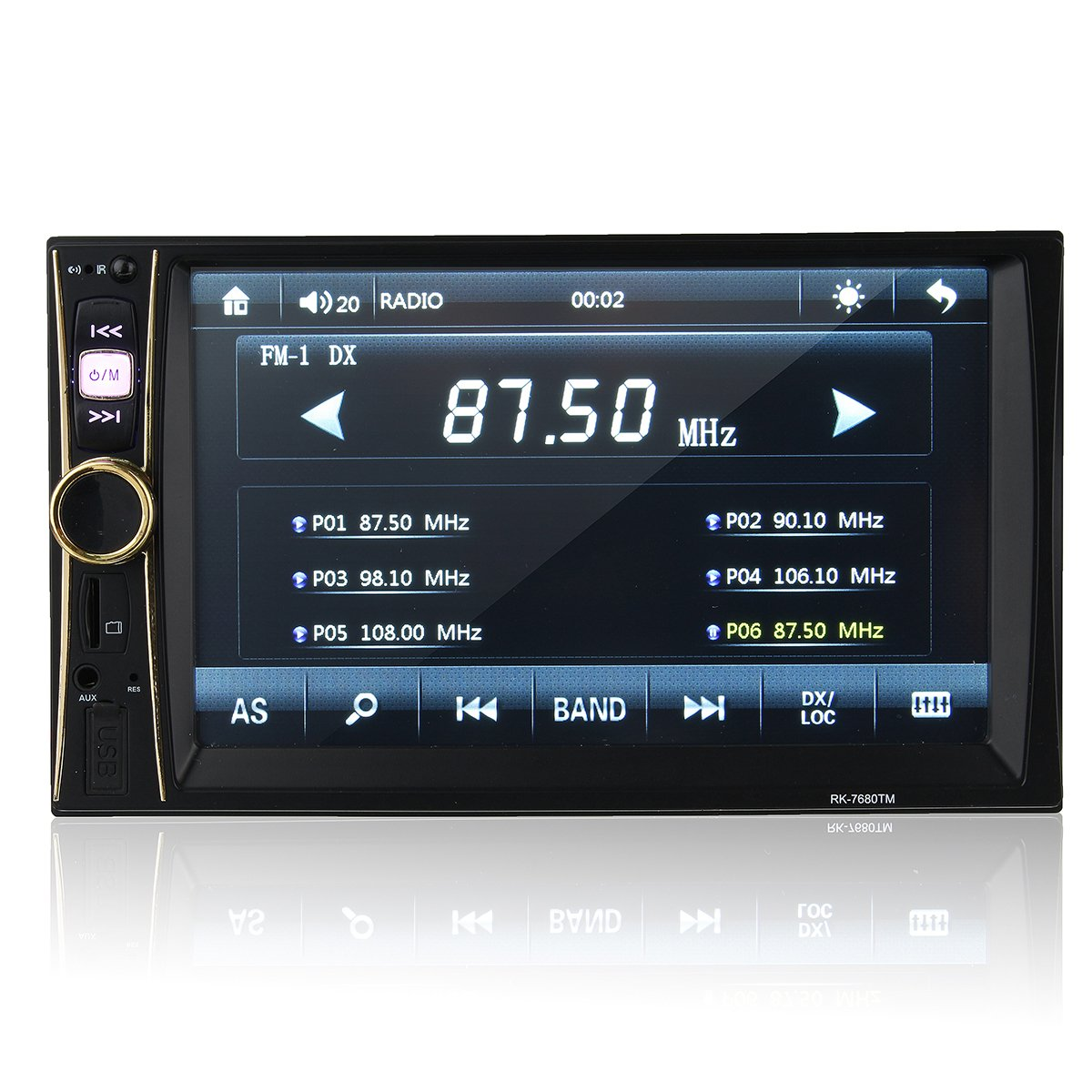 "6.6/"" HD Touch Screen 2Din Car GPS Bluetooth Stereo Autoradio FM Radio MP5 Player"