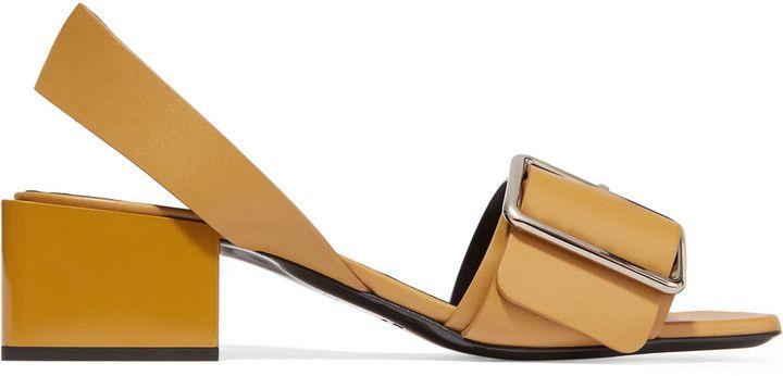 e1447eee1904 Jil Sander Buckled Leather Sandals