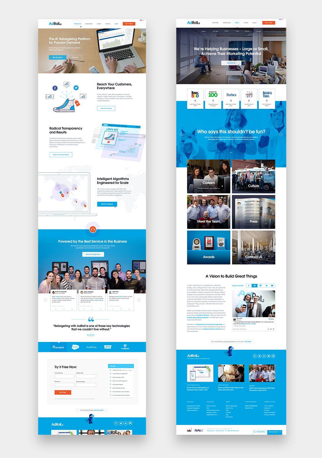 Adroll Image 4 Website Design Layout Web Design Websites Web Design