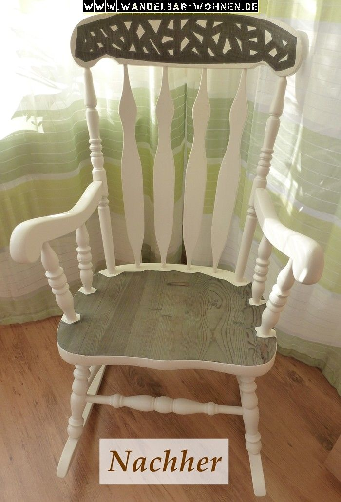 schaukelstuhl traditioneller schaukelstuhl treibholzeffekt holz verwittern lassen m bel. Black Bedroom Furniture Sets. Home Design Ideas