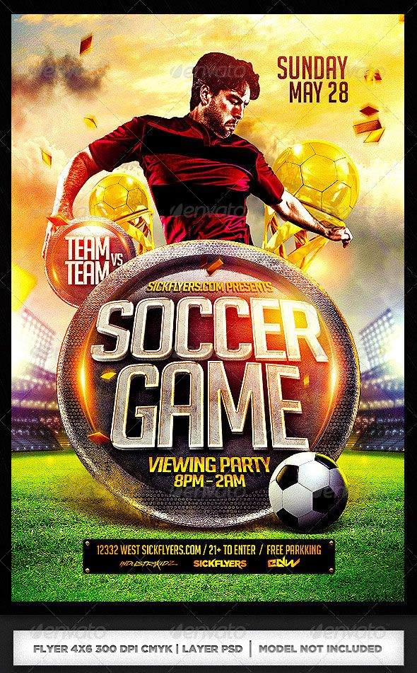 World Cup Brazil Psd Flyer Templates  Flyer Template Template