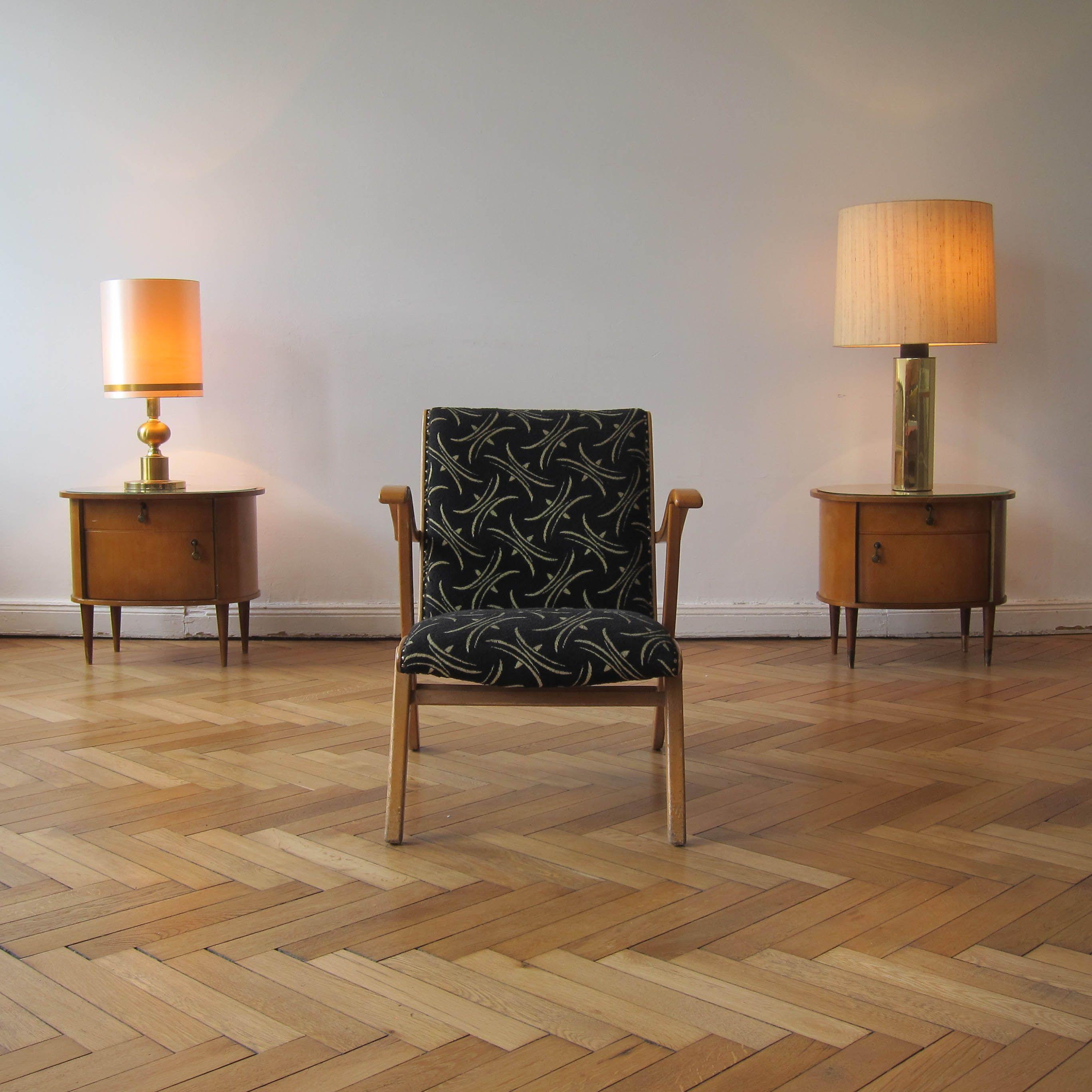 Www Mar Den Co Uk Berlinpopup 1950s Bedside Tables 1970s Gold Table Lamps 1950s Armchair Parquet Floor Vintage Furniture Furniture Gold Table Lamp