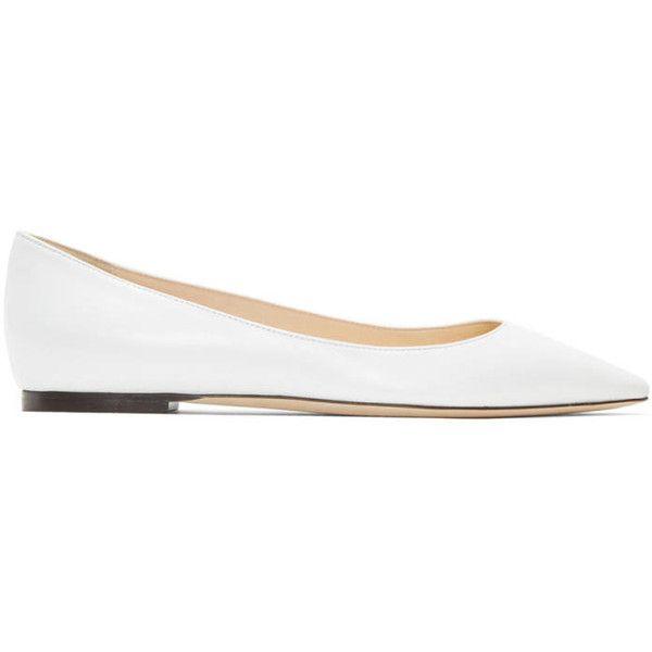 White Leather Romy Ballerina Flats