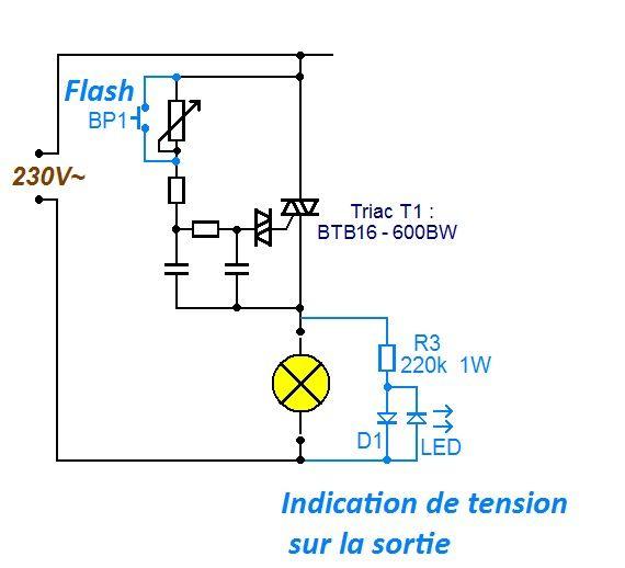 Variateur de lumiere 3 x 2000w schema 1 divers pinterest sch ma lumi res et le sch ma - Schema electrique interrupteur simple ...