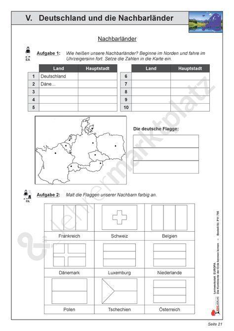 deutschland und seine nachbarl nder unterrichtsmaterial im fach sachunterricht deutschland. Black Bedroom Furniture Sets. Home Design Ideas
