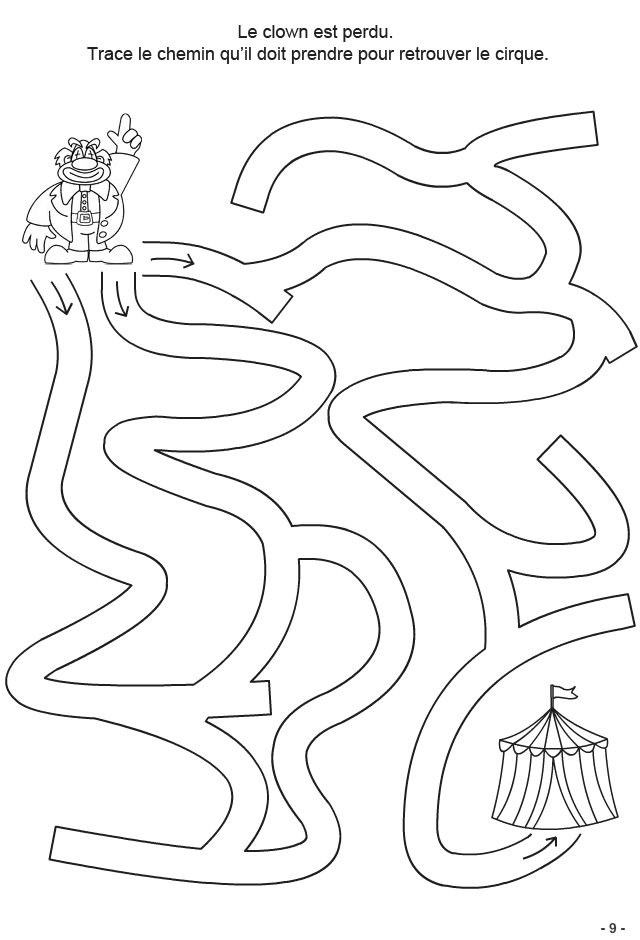 4 6 ans fiche 9 tracer le chemin jeux logiques divers pinterest maze worksheets and. Black Bedroom Furniture Sets. Home Design Ideas