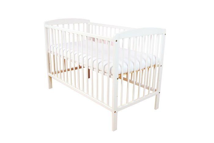 śliczne Białe łóżeczko Dziecięce Andrzej 120x60 Dla