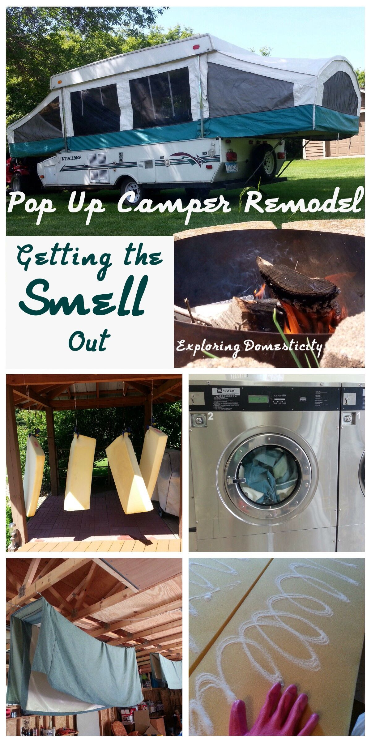 Pop Up Camper Remodel: Getting the Smell Out | Pinterest
