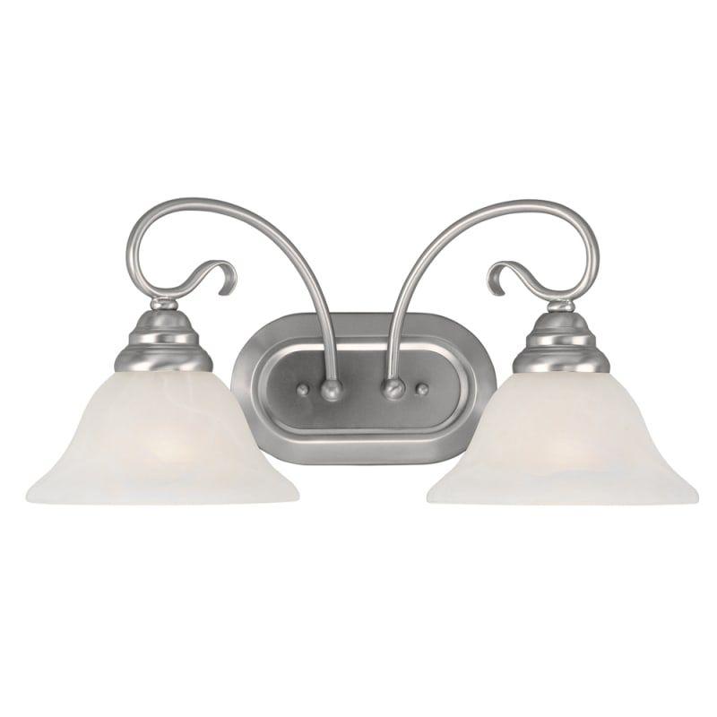 Photo of Livex Lighting 6102 Coronado 2 Light Bathroom Vanity Light Brushed Nickel Indoor Lighting Bathroom Fixtures Vanity Light