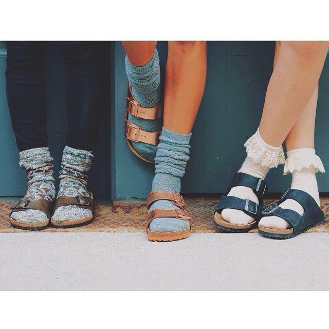 birkenstockusa | Socks and sandals, Sock shoes