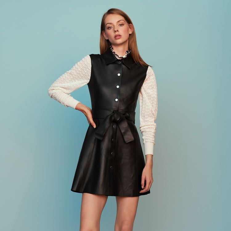 Image result for leather tops and dresses women