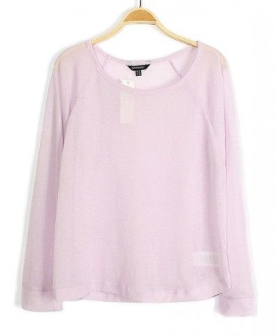 Round Neckline Knitwear in Candy Color - Clothing