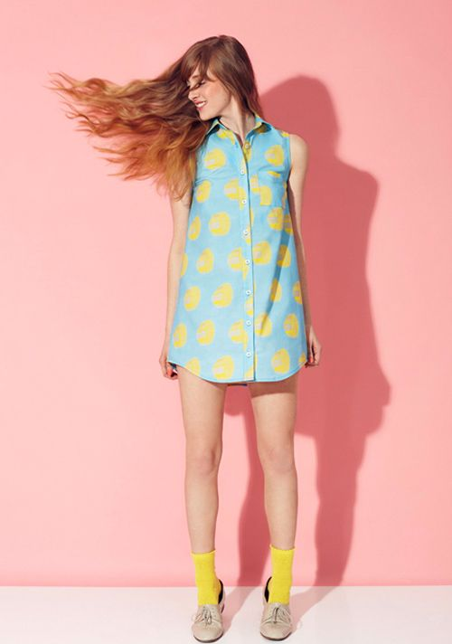 blue and yellow | Quirky dress, Colourful outfits