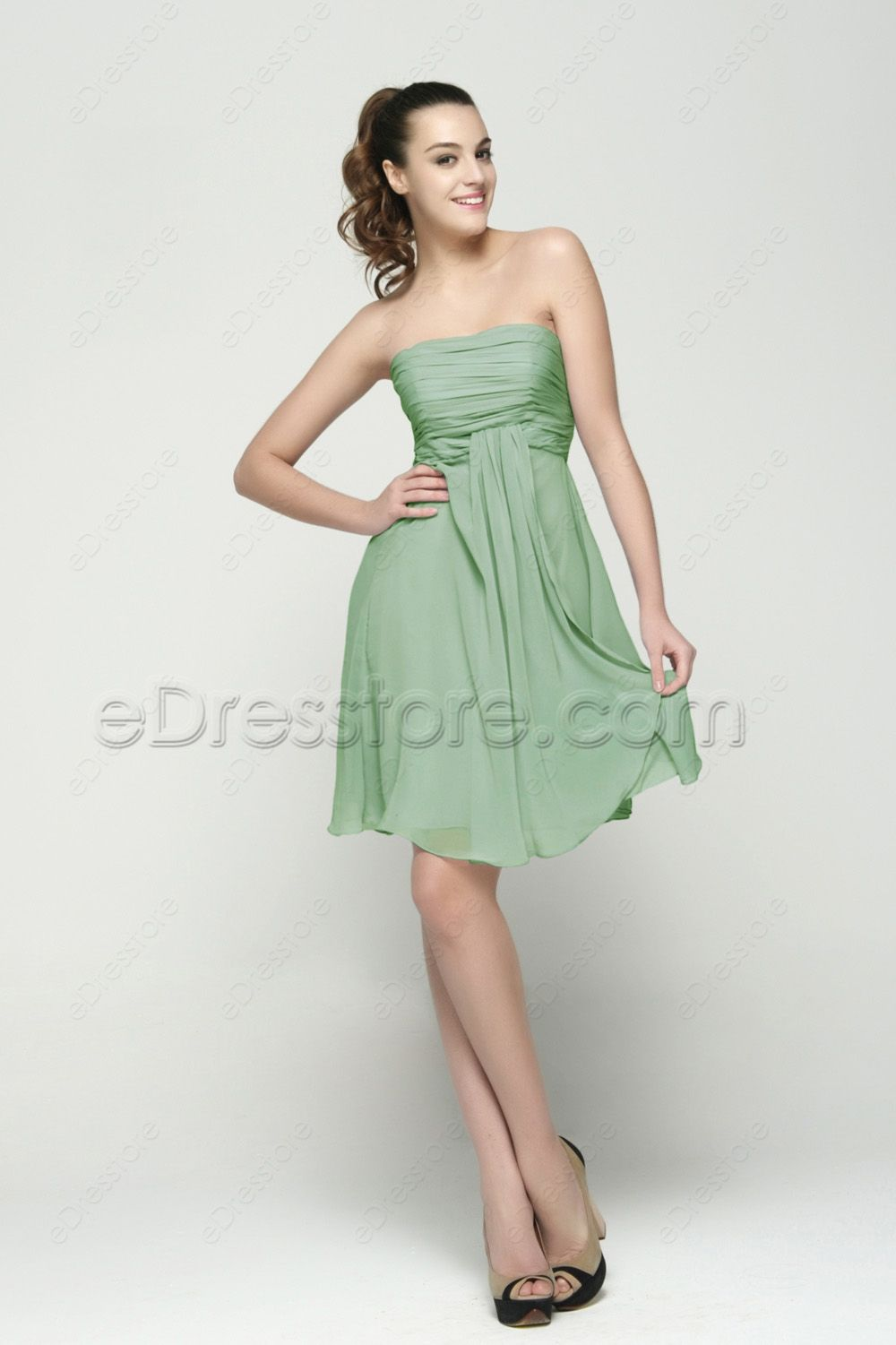 Strapless sage green summer bridesmaid dresses knee length sage green bridesmaid dresses maternity bridesmaid dresses short bridesmaid dresses summer bridesmaid dresses ombrellifo Image collections