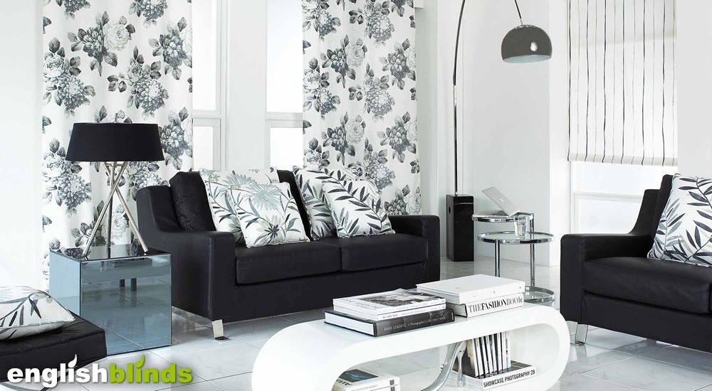 decor for small bedrooms luxury black grey and white monotone floral patterned 15090