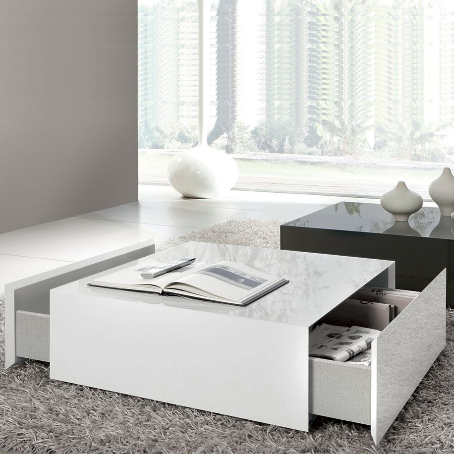 Best Drawing Of Wide Designs Of White Coffee Table With Storage 400 x 300