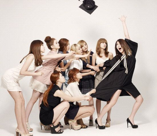 Asian Group Graduation Photo Idea