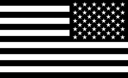 American Flag Sticker Black White Rev American Flag Sticker American Flag Black And White
