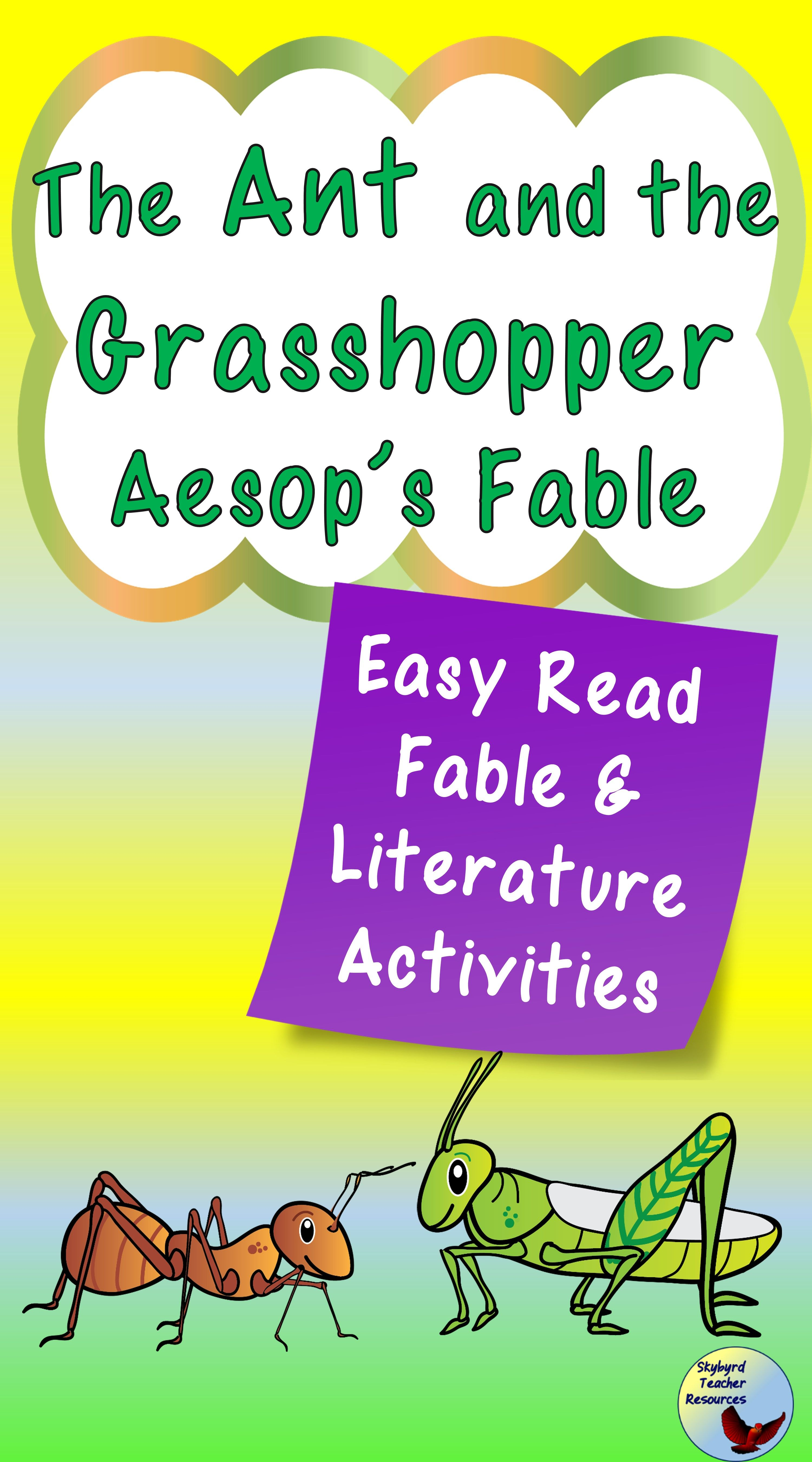 The Ant And The Grasshopper Activities Fable Lessons Elementary Health Lessons Reading Comprehension Passages [ 5400 x 3000 Pixel ]