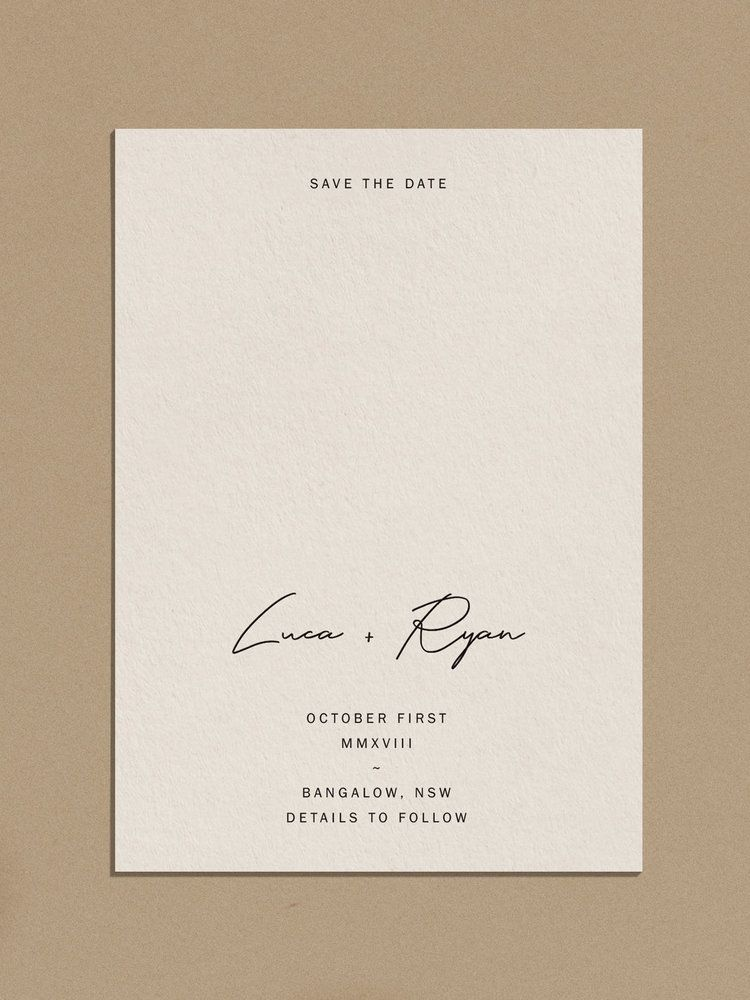 Latest Funny Fails ALCHEMY / PALOMA — PAPER / PAPER modern minimal simple wedding invitations stationery save the date casual script 10