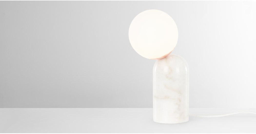 Vetro, lampe de table, laiton et verre opale |
