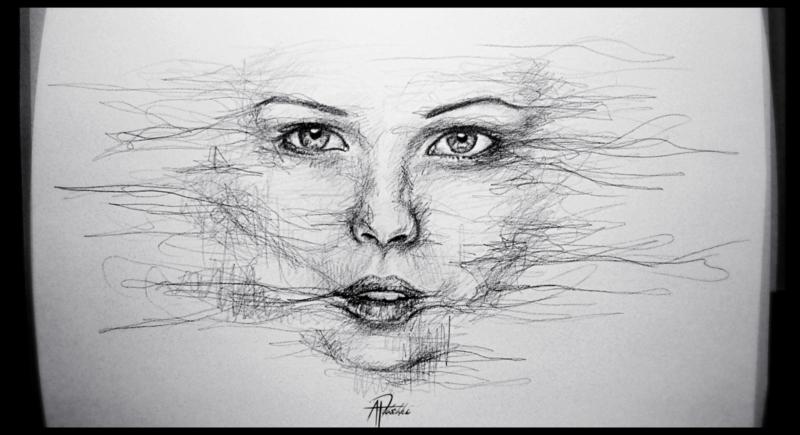 Scribble Pen Drawing : Scribble portraits by kristy b u kickstarter