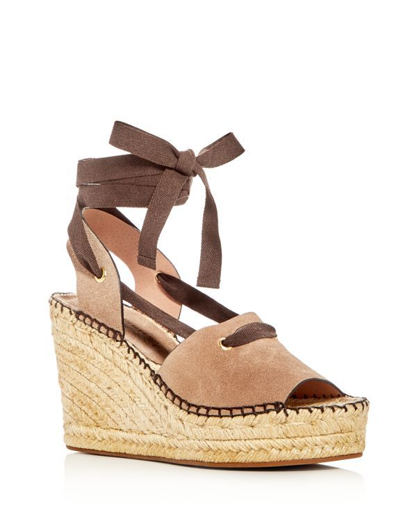 e3455b28cb Bettye Muller Christina Lace Up Espadrille Platform Wedge Sandals ...