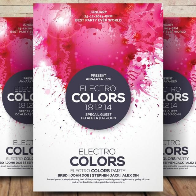 electro colors flyers template for free download on pngtree retro