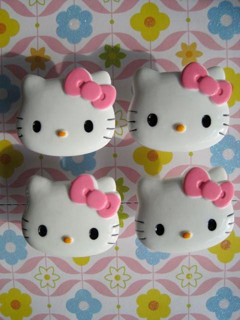 Hello Kitty Drawer Knob By Darosa On Etsy